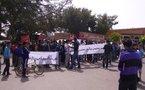 المجازون المعطلون في وقفة احتجاجية أمام باشوية سيدي بوعثمان