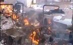 """فرع الجمعية: عناصر مسخرة من الأمن أحرقت الكومسيارية والمقاطعة والحكومة تتهم """"جهات"""" لم تسمها (صور وفيديو للدمار)"""