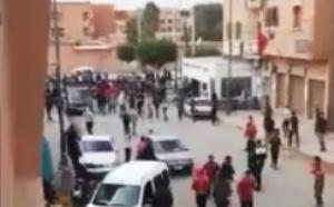 أعمال شغب الجماهير الرياضية بالملعب البلدي بمدينة ابن جرير