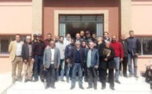 رضوان خيرات المندوب الجهوي لوزارة الشباب والرياضة يؤكد خلال مناظرة داخل مقر الوزارة بمدينة مراكش بأن المشاريع الخاصة بالحاضرة المتجددة  ناهزت نسبة 90%من معدل الإنجاز